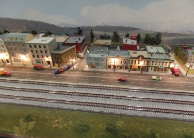 Town night scene